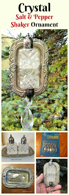 Crystal S & P Shakers/Tray CHRISTMAS Tree Ornament www.organizedclutter.net