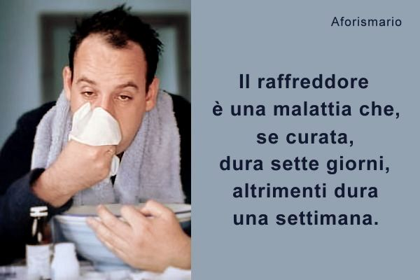 Aforismario Raffreddore Influenza E Febbre Frasi E Battute