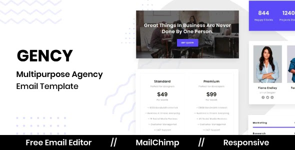 Agency Email Template With Free Email Editor