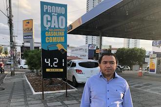 Preços caem para as refinarias, mas seguem sem redução em Campina Grande, denuncia vereador