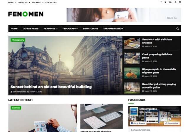 Fenomen Blogger Template Full Version Free Download