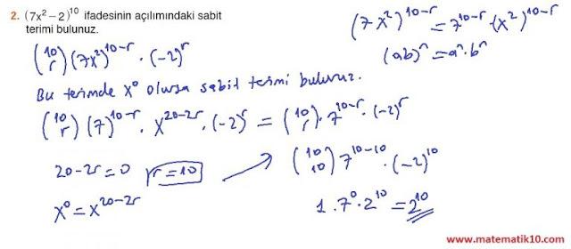 10. Sınıf MEB Yayınları Matematik 55. Sayfa Cevapları