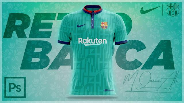 Nike FC Barcelona Retro Jersey Design in Photoshop cc 2019 by M Qasim Ali
