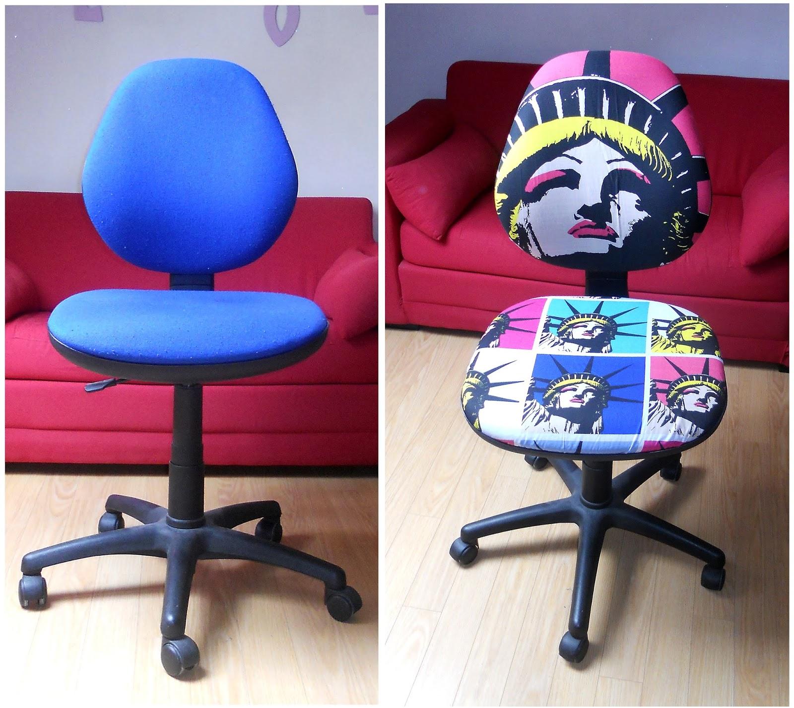relooker sa vieille chaise de bureau le blog d 39 emilisterique. Black Bedroom Furniture Sets. Home Design Ideas