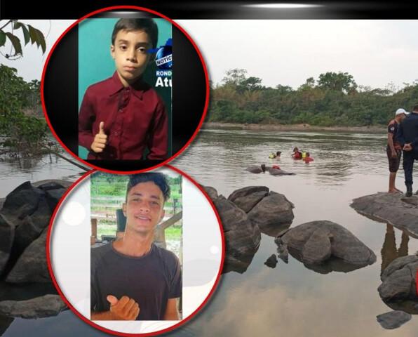 Irmãos morrem afogados em Ji-Paraná; bombeiros encontram corpos abraçados