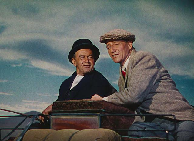 Imagen de 'El hombre tranquilo (1952)' - Barry Fitzgerald y John Wayne