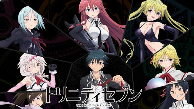 Trinity Seven - Top Fantasy School Anime List