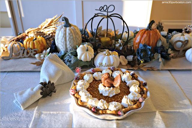 Tarta de Calabaza de nuestra Cena de Acción de Gracias en Boston