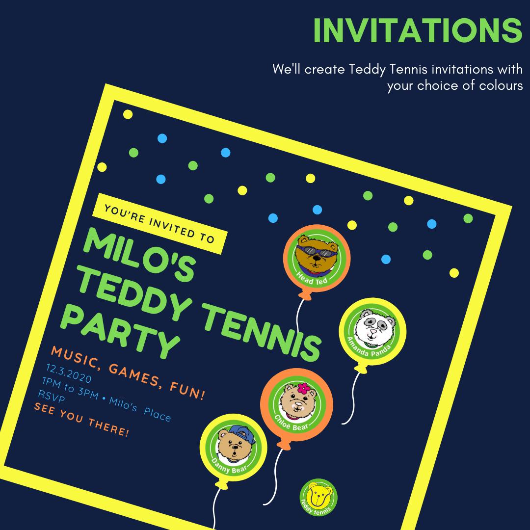 Teddy Tennis Muscat Oman birthday party kids