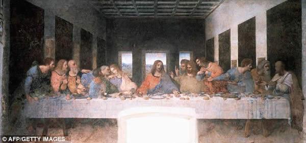 'La última cena' de Leonardo da Vinci. Un manuscrito recién descifrado afirma que Jesús podía cambiar de forma a voluntad y, de hecho, tuvo su última cena con Poncio Pilato, el prefecto romano que lo condenó a muerte.