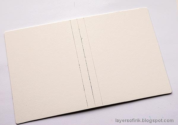 Layers of ink -  Outdoor Sketch Book Tutorial by Anna-Karin Evaldsson. Die cut the Eileen Hull Notebook die.