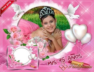 Marco digital para tus fotos de fiesta rosa