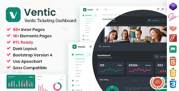 Best Event Ticketing Bootstrap 5 Admin Template