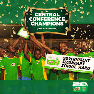 Nestle Milo BasketBall Central Conference Girls Government Secondary School Winners