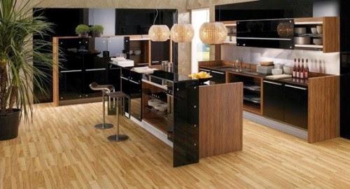 decoración cocina marrón
