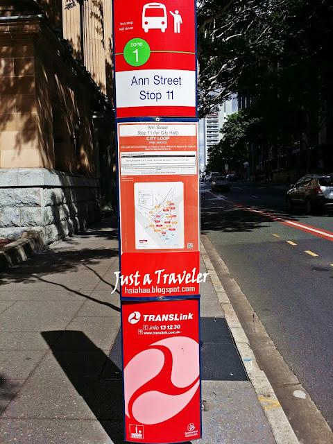 布里斯本-交通-免費-巴士-公車-站牌-旅遊-自由行-澳洲-Brisbane-Transport-Free-Bus-Loop-Stop-Travel-Australia