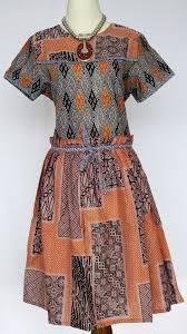 model Dress Pendek batik Untuk Kerja terbaru