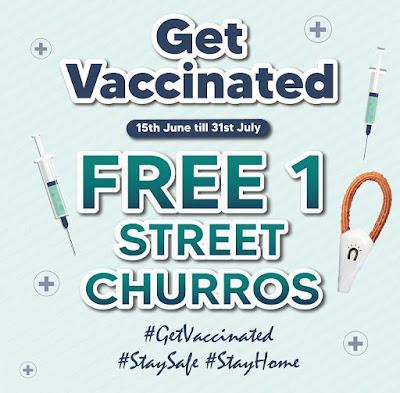 tawaran vaksinasi menarik churros
