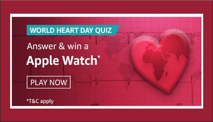 Amazon World Heart Day Quiz Answers Win – Apple Watch