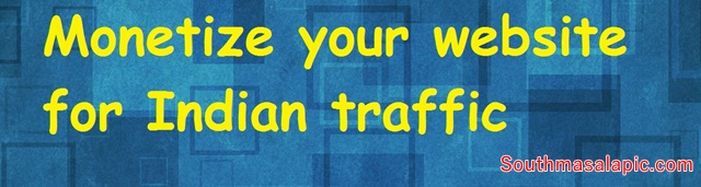 Monetize your website for Indian traffic