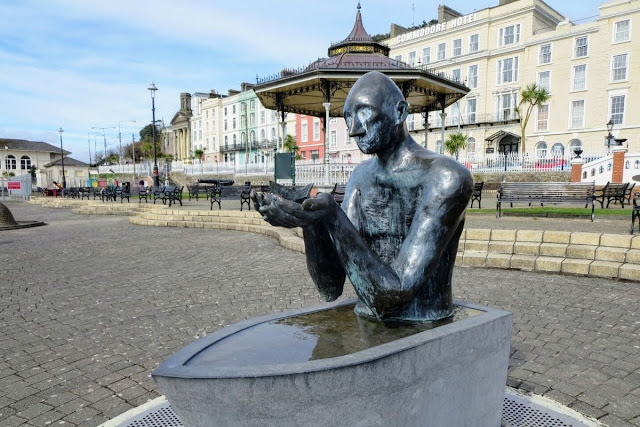 Cork to Cobh: statue of a man in a small boat