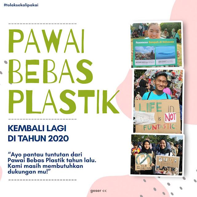 Pawai Bebas Plastik 2020