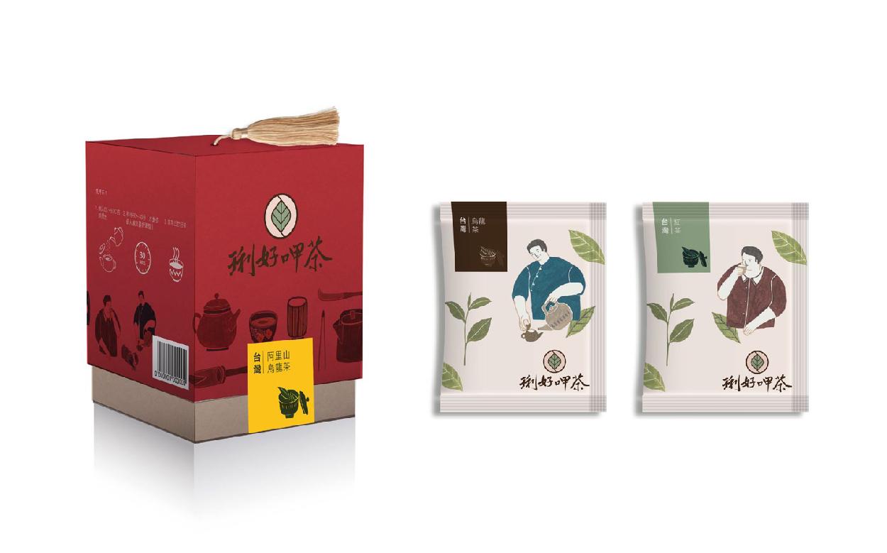DW達非設計企劃: [琍好呷茶]臺灣茶禮盒包裝設計