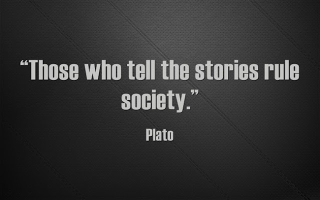 top Plato Quotes who tells stories rules society
