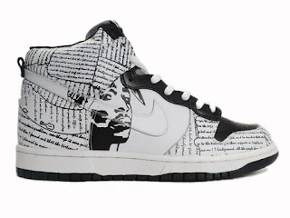 pretty nice 469e4 29055 Nike SB Dunk Custom Tupac Amaru Shakur Shoes White Black