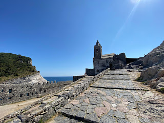 The Church of San Pietro (Porto Venere) and blue skies