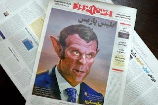 Kontroversi Kartun Nabi Muhammad, Iran Tampilkan Presiden Prancis seperti Iblis