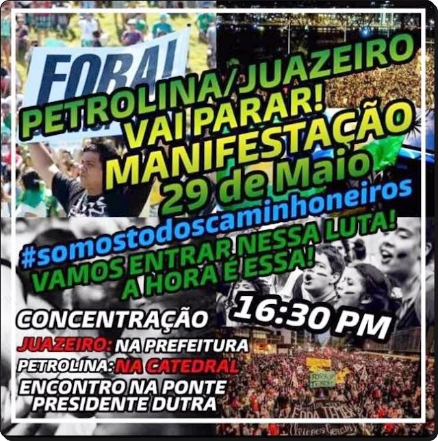 MANIFESTANTES AMEAÇAM FAZER NOVO PROTESTO NESTA TERÇA-FEIRA (29) E PARALISAR PONTE PRESIDENTE DUTRA