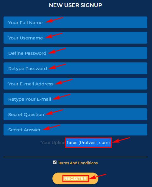 Регистрация в BitKind 2