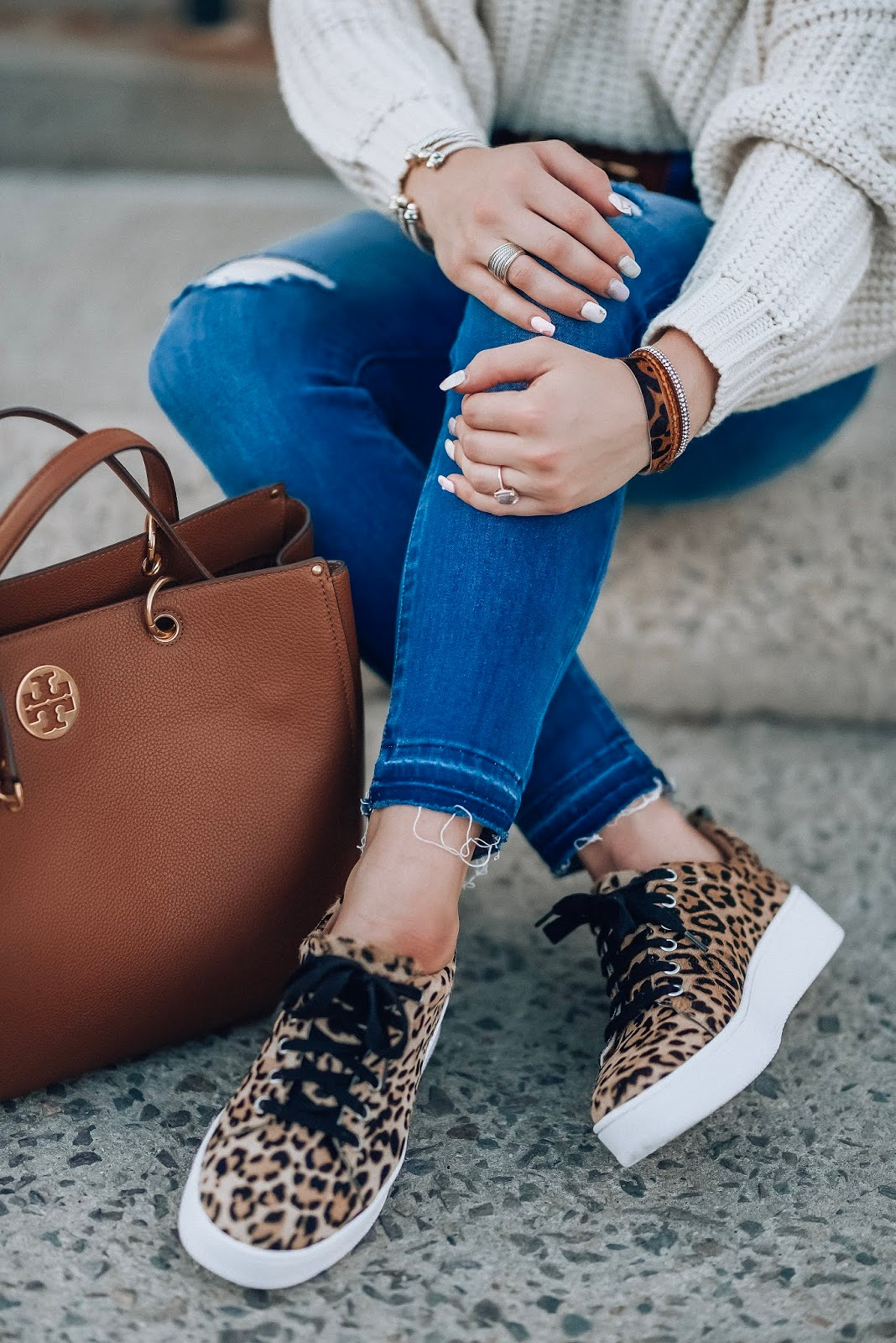 My New Favorite Leopard Sneakers (on sale for $69) + A Pre-Fall Look - Something Delightful Blog