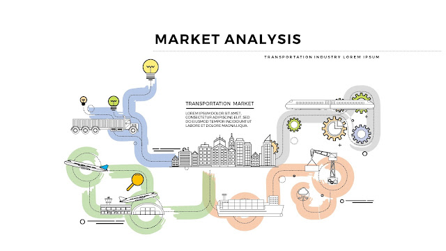 Infographic Transfortation  Market Analysis for Powerpoint Presentation