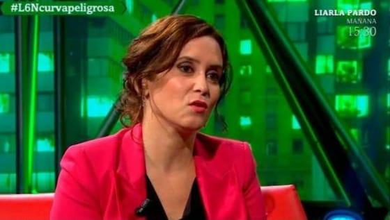 """Incoherencia y enredo. El cortocircuito de Isabel Díaz Ayuso en """"La Sexta Noche"""""""