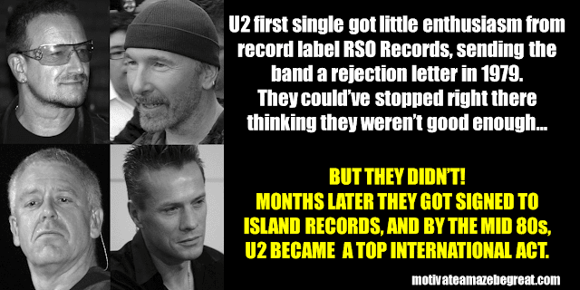 Success Stories From Famous People Who Failed Before Succeeding: U2