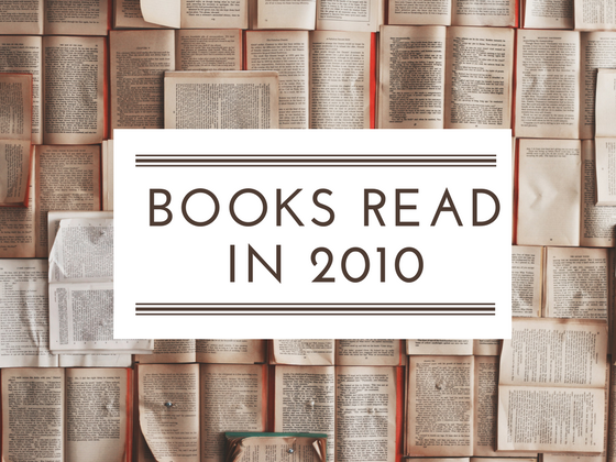 Books reads in 2010