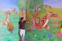 Pokój chłopca, malowanie bajki na ścianie, Wrocław