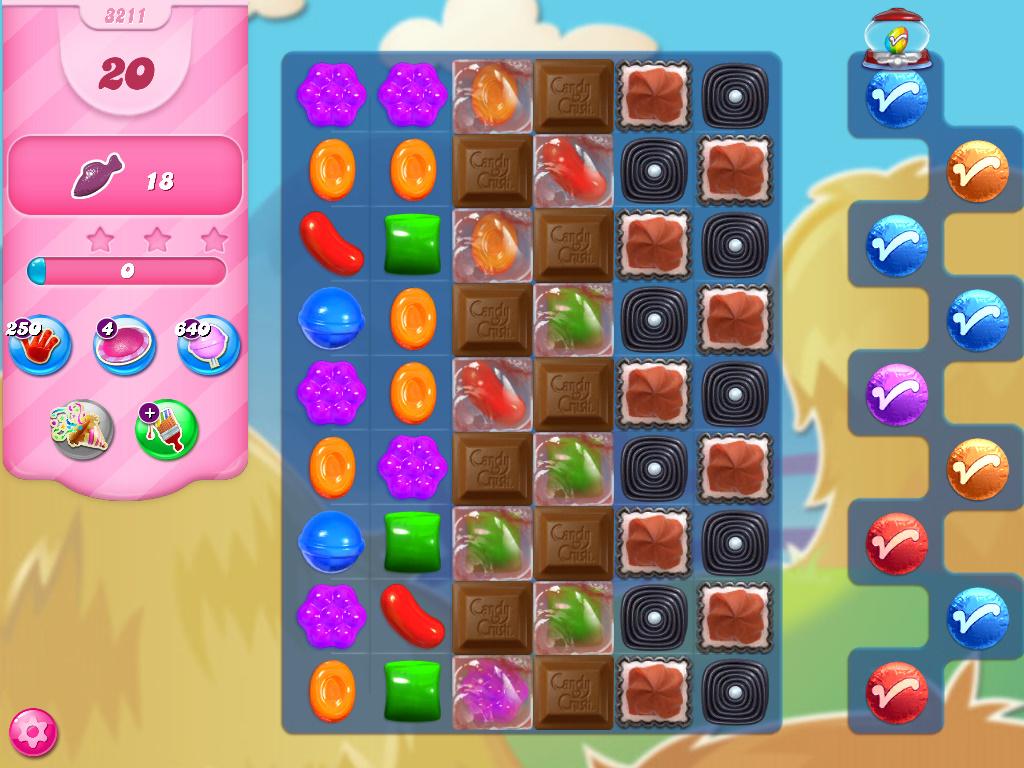 Candy Crush Saga level 3211
