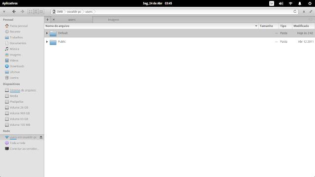 Navegador de arquivos do Linux utilizando o protocolo SMB.