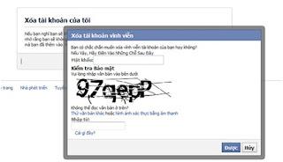 Nhập mật khẩu đăng nhập Facebook và mã Captcha để hoàn tất