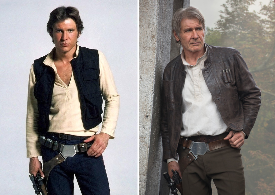 Harrison Ford As Han Solo,1980 and 2015