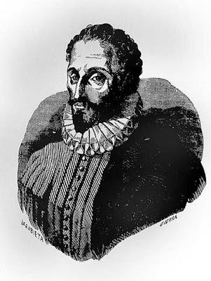 Uno de los grabados que sugieren la supuesta fisonomía de Cervantes