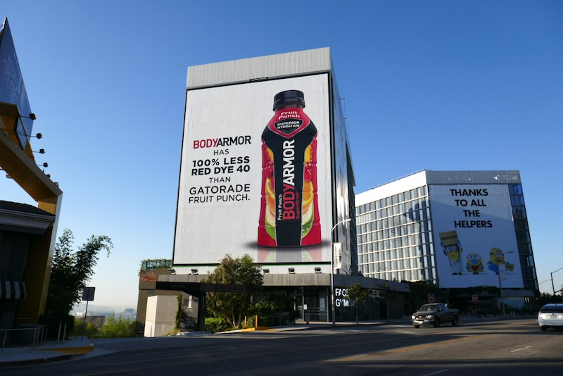 Giant Bodyarmor Fruit Punch billboard