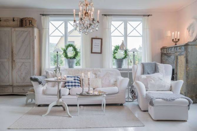 living decorat in stil nordic shabby chic