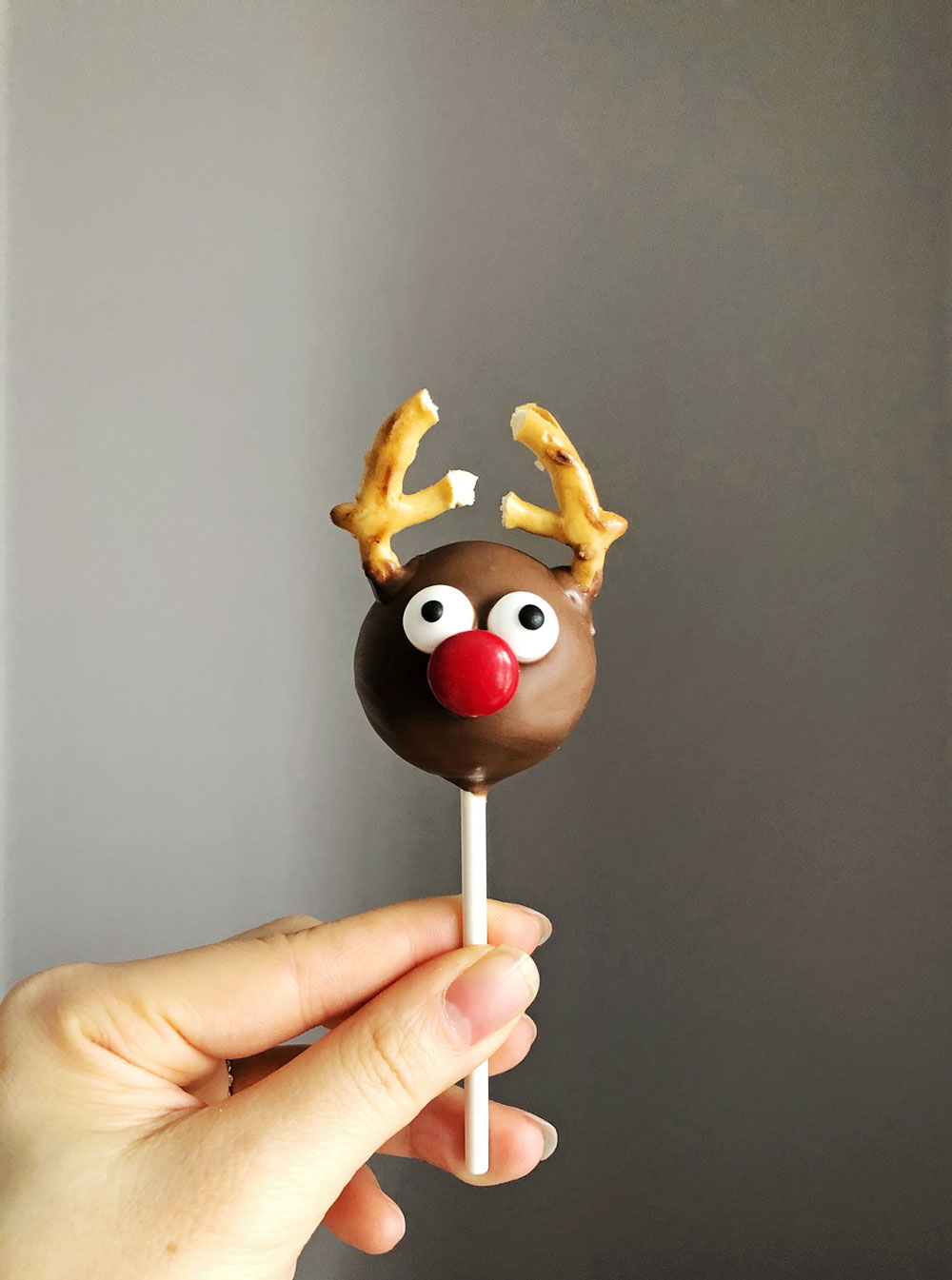 Ruldoph the Red Nosed Reindeer Cake Pops - DIY holiday gift ideas