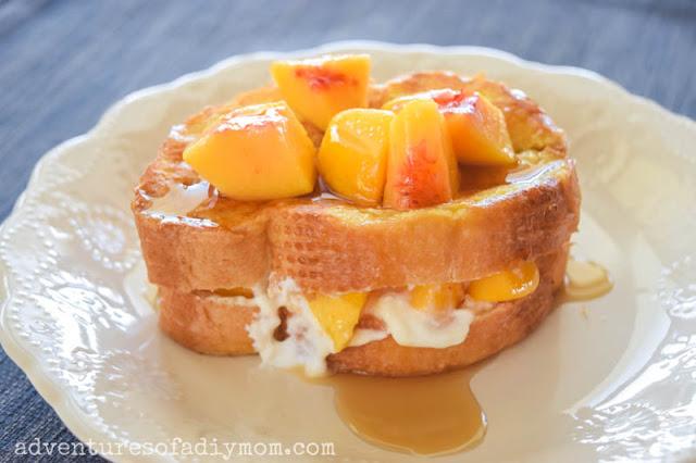 peach stuffed french toast