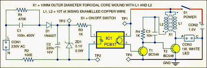 Fig  Circuit Diagram Of Led Light