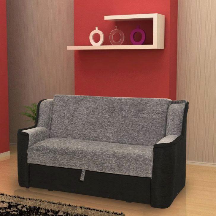 sofá preto e cinza